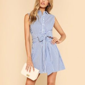 Shein belted button up shirt dress /tunic